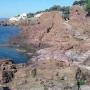 Plage et sentier du littoral à Saint Raphael Var