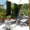 Terrasse extérieure Studio Villa Rosaland